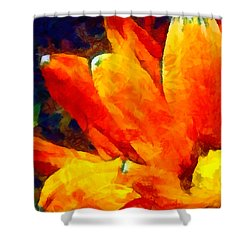 Dancing Daisy 3 Shower Curtain by Angelina Vick