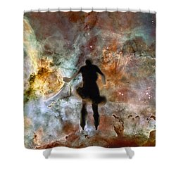 Dancing Nebula Shower Curtain