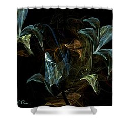 Dancing Orchids Shower Curtain by Kelly Turner