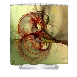 Dancing Wood Spirit Shower Curtain by Jutta Maria Pusl
