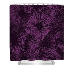 Dandelion Abstract Shower Curtain by Ernie Echols