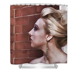 Dangling Earring Shower Curtain by Alice Gipson