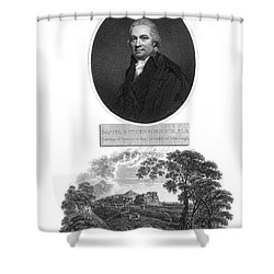 Daniel Rutherford, Scottish Chemist Shower Curtain by Science Source