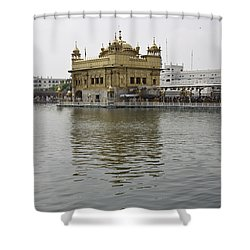 Darbar Sahib And Sarovar Inside The Golden Temple Shower Curtain by Ashish Agarwal