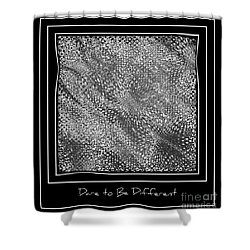 Dare To Be Different - Black And White Abstract Shower Curtain by Carol Groenen