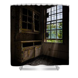 Dark And Empty Cabinets Shower Curtain by Gary Heller