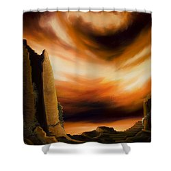 Dark Columns Shower Curtain by James Christopher Hill