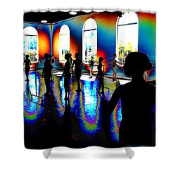 Dark Concentration Shower Curtain