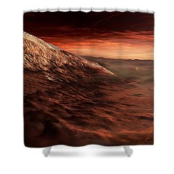 Dark Dunes March Along The Floor Shower Curtain by Steven Hobbs