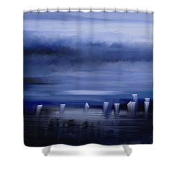 Dark Mist Shower Curtain