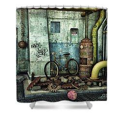 Dark Places Tell Stories Shower Curtain by Jutta Maria Pusl