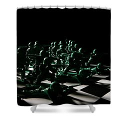 Dark Squares Shower Curtain by Lon Casler Bixby