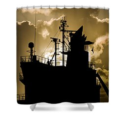 Dark Superstructure Shower Curtain