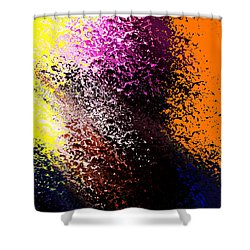 Dark Wave Shower Curtain by Terence Morrissey