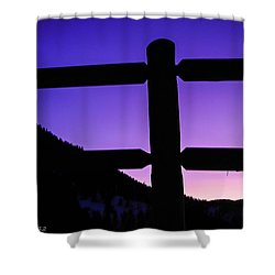 Shower Curtain featuring the photograph Darkening Sky by Shannon Harrington