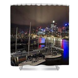 Darling Harbor Sydney Skyline 2 Shower Curtain by Douglas Barnard