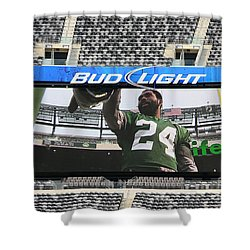Darrelle Revis - Ny Jets Shower Curtain by Paul Ward