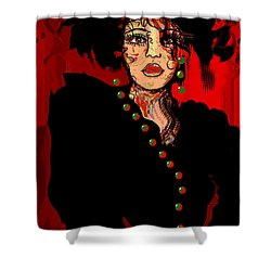 Date Night Shower Curtain by Natalie Holland