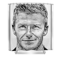 David Beckham In 2009 Shower Curtain by J McCombie
