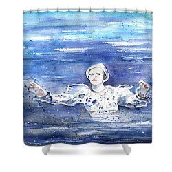 David Bowie In Ashes To Ashes Shower Curtain by Miki De Goodaboom