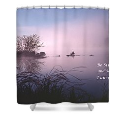 Dawn On The Chippewa River Shower Curtain