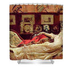 Day Dreams Shower Curtain by John Atkinson Grimshaw