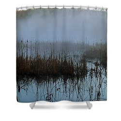 Daybreak Marsh Shower Curtain