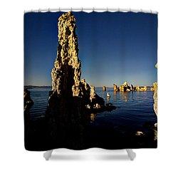 Daybreak On Mono Lake Shower Curtain by Joe Schofield