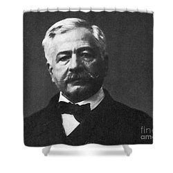 De Lesseps, French Diplomat, Suez Canal Shower Curtain by Photo Researchers