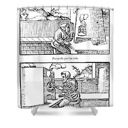 De Re Metallica, Cupellation Furnaces Shower Curtain by Science Source