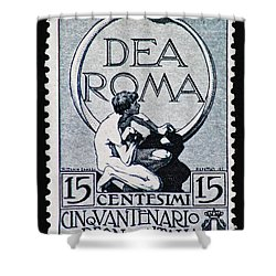 Shower Curtain featuring the photograph Dea Roma by Andy Prendy