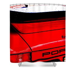 Shower Curtain featuring the photograph Dead Red Turbo by John Schneider