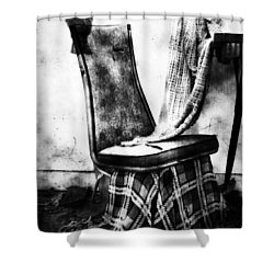 Death Of A Songbird  Shower Curtain by Empty Wall