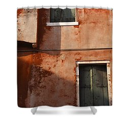 Decayed Facade Of A Building Venice Shower Curtain by Trish Punch