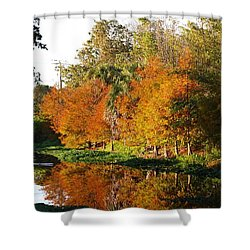 December Morn On Deerfield Creek Shower Curtain