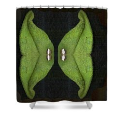 Decorative Green In The Dark Shower Curtain by Pepita Selles