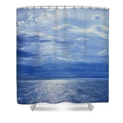 Deep Blue Sea Shower Curtain by Antonia Myatt