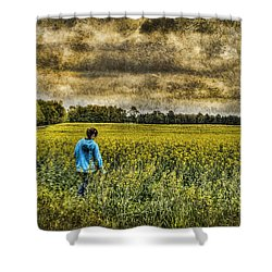 Deep In Thought Shower Curtain by Kathy Clark