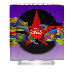 Deep Red Shower Curtain by Charles Stuart
