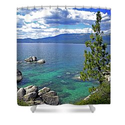 Deep Waters Lake Tahoe Shower Curtain