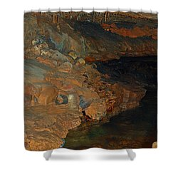 Deep Within The Earth Shower Curtain by DigiArt Diaries by Vicky B Fuller