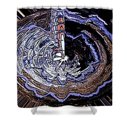 Deeper Life Circle  Works 2 Shower Curtain by Colette V Hera  Guggenheim