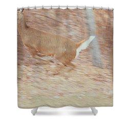 Deer On The Run Shower Curtain by Karol Livote