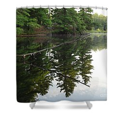 Deer River Reflection Shower Curtain
