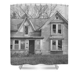 Shower Curtain featuring the photograph Defiance B/w by Bonfire Photography