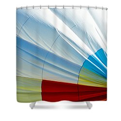 Deflating Shower Curtain by Colleen Coccia