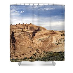Delicate Arch Viewpoint - D004091 Shower Curtain by Daniel Dempster