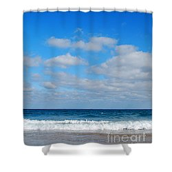 Delray Sea And Sky Shower Curtain