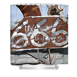 Demonic Humor At Industrial Site Haunted House Shower Curtain by Gary Whitton