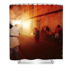 Demons In The Street Shower Curtain